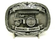 Advance Rumely Steam Engine Tractor Belt Buckle 1988 Mclouth Ks 31 Threshing Bee