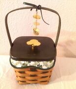 Longaberger St Patrick Basket Liner Protector Lid Tie On Lucky Wish New