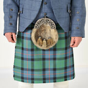 Flower Of Scotland 8 Yard 16oz Made To Measure Wool Kilt With Free Flashes