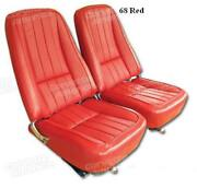 1968 - 1969 Corvette Seat Covers Leather-like Reproduction C3 New