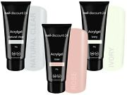 3x30g Poly Acrylgel Dual System Tube French Look Clear Soft White Dark Pink Led