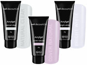 3x30g Poly Acrylgel Dualsystem Tube French Look Clear Bright White Cover Natural