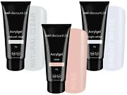 3x30g Poly Acrylgel Dual System Tube French Look Clear Bright White Dark Pink Uv