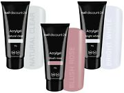 3x30g Poly Acrylgel Dualsystem Tube French Look Clear Bright White Light Pink Uv