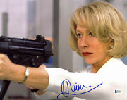Helen Mirren Red Authentic Signed 11x14 Photo Autographed Bas D78186