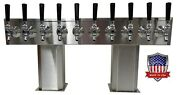 Stainless Steel Draft Beer Tower Made In Usa 10 Faucet Glycol Ready-ptb-10ssg-op