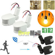 2x 12m 180° Security Pir Infrared Motion Sensor Detector Wall Led Light Outdoor