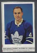 1963-64 Chex Toronto Maple Leafs Hockey Photos Red Kelly Complete Dotted Line
