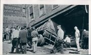 1963 Press Photo Tractor Trailer Wreck Building Support Collapse Duluth Mn