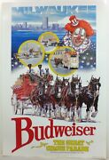 Vintage 1988 Milwaukee Circus Parade Budweiser Beer Sign Poster Wisconsin Wi