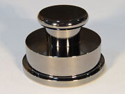 Solid Brass Turntable Record Stabilizer Clamp Weight Beautiful Chrome Finish