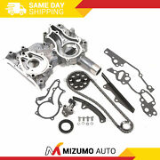 High Performance Timing Chain Kit Timing Cover Fit 85-95 2.4 Toyota 22r 22re