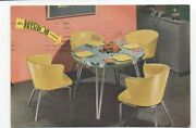 1950s Advertising Postcard Daystrom Chromed Dinette Tables And Chairs Milwaukee Wi