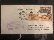 1929 Colon Panama First Flight Cover Ffc To First National Bank Argentina