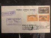 1929 Colon Panama First Flight Cover Ffc To Bank Of London Paraguay