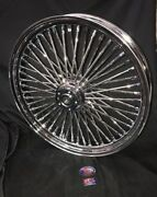 H-d 2000-2007 Touring Harley 23 X 3.5 1in Brgs 52 Fat Crome Spokes/hub / Rim