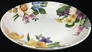 1 Coupe Cereal Bowl Narcissus Bill Goldsmith Limoges 29578 Floral Flowers White