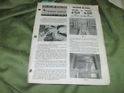 Used Wheelhorse Dozer Blade Models 6-1131 And 6-1141 54 And 56 Parts List And Info