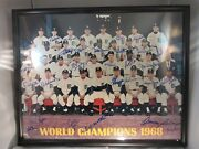1968 Detroit Tigers World Champions Autographed 16 X 20 Framed Photo 29 Auto