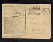 1944 Germany Posen Concentration Camp Postcard Cover To Krotochin Kz