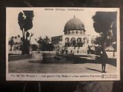 Mint Palestine Rppc Postcard The Mosque Guarded By Mohammedan Soldiers