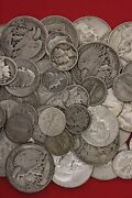 Make Offer 2 Standard Pounds 90 Silver Junk Coins 32 Halves Included No Nickel