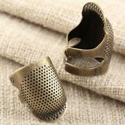 1pc Thimble Needles Partner Finger Protector Diy Sewing Tool Antique Metal Brass