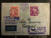 1939 Warsaw Poland Airmail First Flight Cover Ffc To Venice Italy 92 Flown