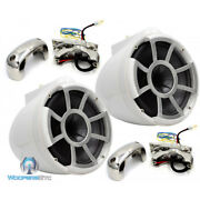Wet Sounds Rev8-w-fc 8 White Marine Boat Efg 4-ohm Mid Bass Tower Speakers New
