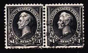 Us 276/276a 1 Perry Combination Type Pair Very Scarce Used Vf Appr Scv 2600