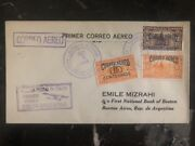 1929 Colon Panama First Flight Cover Ffc To Buenos Aires Argentina Emile Mizrahi