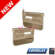 Neutral Replacement Door Panels-pair 18-36f-ntl For C1500 Pickup - Coverlay