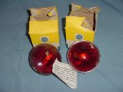 Vintage Red 12v Sealed Beam Headlight Bulbs Fire Truck Ambulance 4414r Old Style