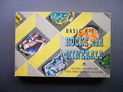 Rare 1956 Harvey House Basic Kit Of Rocks And Minerals With Guide Book Nice