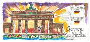 1990.. 1612-3 German Re-unification Wild Horse Cachet Cover Ltd Ed. Of 50