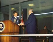 President John F. Kennedy Gives Cia Director Allen Dulles Medal New 8x10 Photo