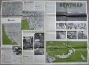 Large Ww2 Vintage Newsmap Poster March 13 1944 Original Us G.i Issue Map News