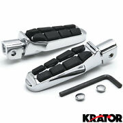 Touring Wide Tombstone Foot Rests / Pegs For Honda Suzuki Can-am Motorcycles