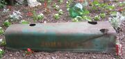 Antique John Deere Tractor Metal Hood Part Statue Sculpture Tool Yard Art Sign