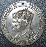 1939 Royal Tour Canada George Vi And Elizabeth .900 Silver Medal Peoples Credit...