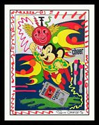 Ronnie Cutrone Might Mouse | Unique Acrylic Paint On Serigraph | Others Avail