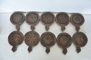 10 Pc Old Wooden Flower Engraved Handcrafted Cookie Maker Mold /dye
