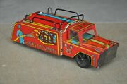 Vintage Wind Up 786 Indian Fire Service Mr Toys Litho Tin Toy Collectible