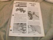 Used Wheelhorse Dozer Blade Model 6-3151 Parts List And Instructions 2 Pages