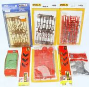 Faller + Pola Germany Ho 187 8x Telegraph Poles And Fences And More Model Kit Lot