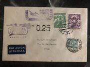 1939 Warsaw Poland Airmail Special Cover To Rome Italy