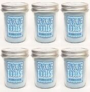 6 Bath And Body Works Sparkling Icicles Mason Jar Candle 30-40 Hrs Burning 6 Oz