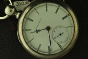 Big Vintage 18s Elgin Nat Watch Co Private Label With Strong 4 Oz Coin Silv Case