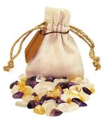 Happiness Power Pouch Healing Crystals Stones Set Tumbled Natural Gemstones