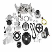 Holley 20-190p Polished Premium Mid-mount Complete Accessory Kit For Ls7 Engines